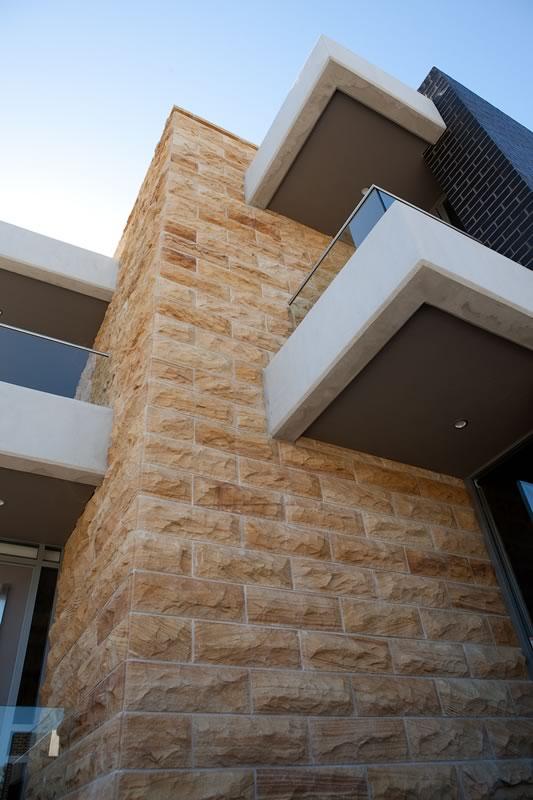 Teakwood Sandstone Dry Rockface Cladding Marblous Group